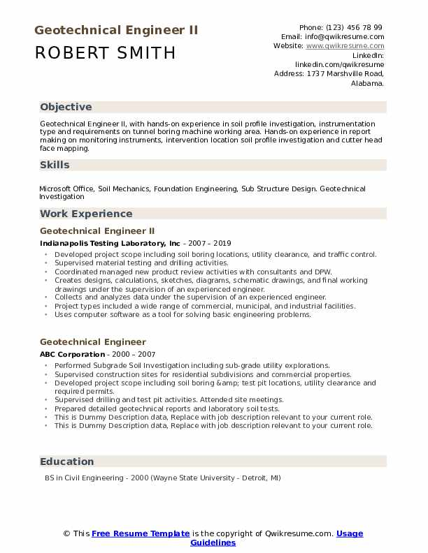 geotechnical engineer resume samples qwikresume hands on experience pdf professional Resume Resume Hands On Experience