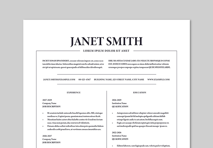 get ahead with these adobe stock resume templates hlx builder login header format for Resume Adobe Stock Resume Templates