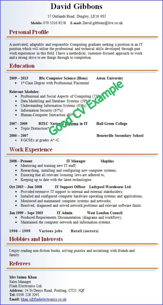 good and cv resume examples job samples example of professional format abiword template Resume Example Of A Professional Resume Format