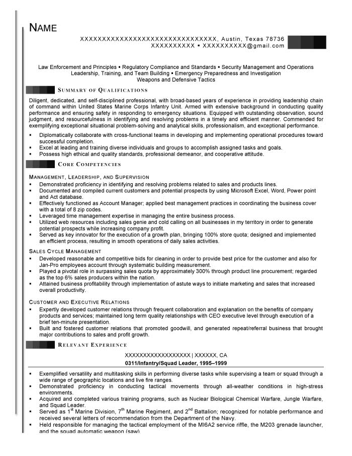 good resume examples for all careers prime infantryman duties infantry and squad leader Resume Infantryman Duties Resume
