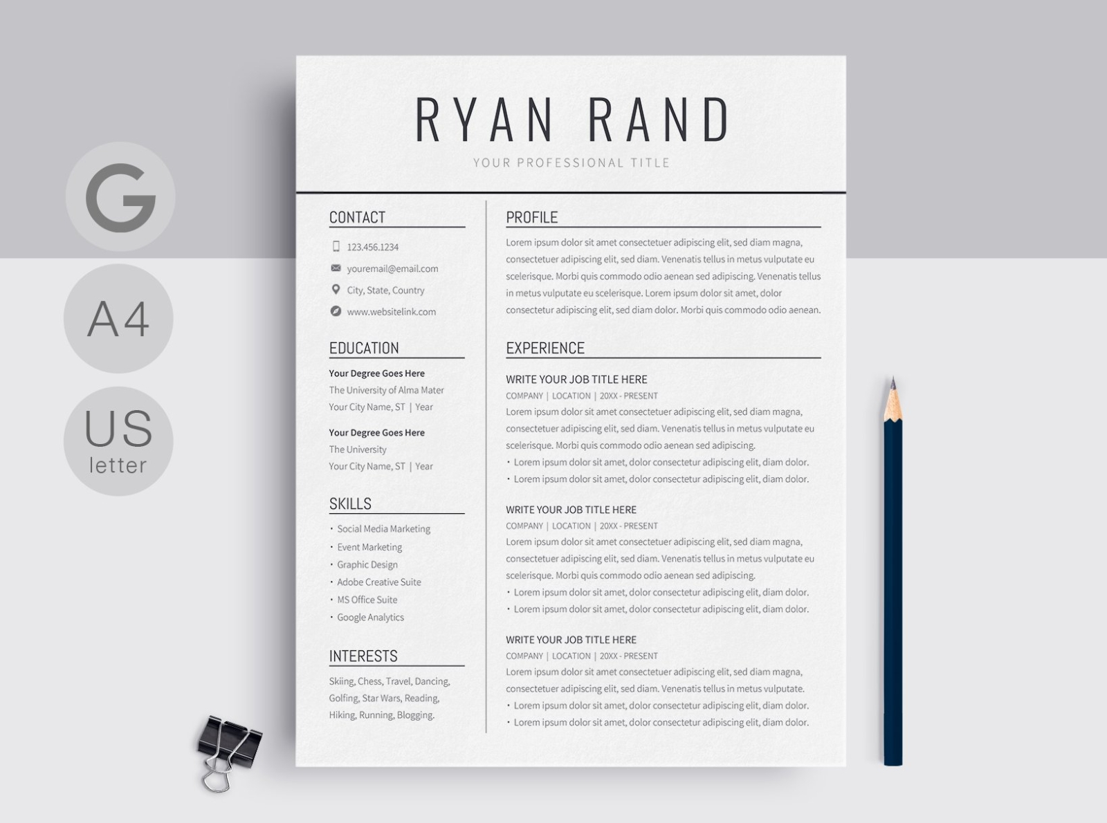 google docs resume template by templates on dribbble manager job duties for profile Resume Google Docs Resume Template Download