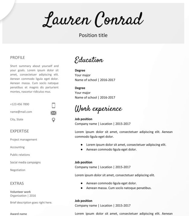 google docs resume templates downloadable pdfs teacher template free teaching examples Resume Google Docs Resume Template Download
