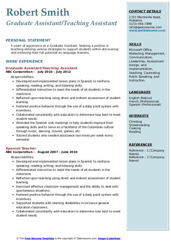 graduate assistant resume samples qwikresume sample pdf does need photo lawyer format for Resume Graduate Assistant Resume Sample