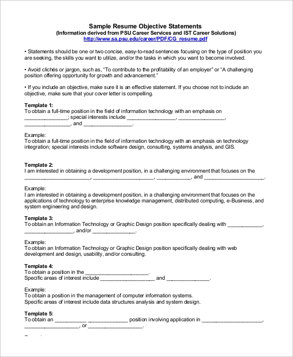 graphic design career objective sample for resume any position physical therapist Resume Sample Objective For Resume For Any Position