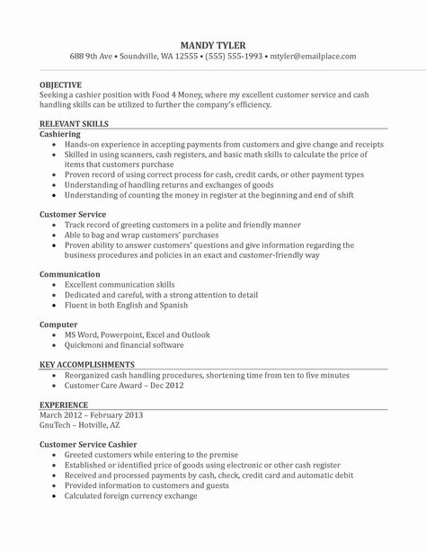 grocery store cashier resume description retail examples best template money exchange Resume Money Exchange Cashier Resume