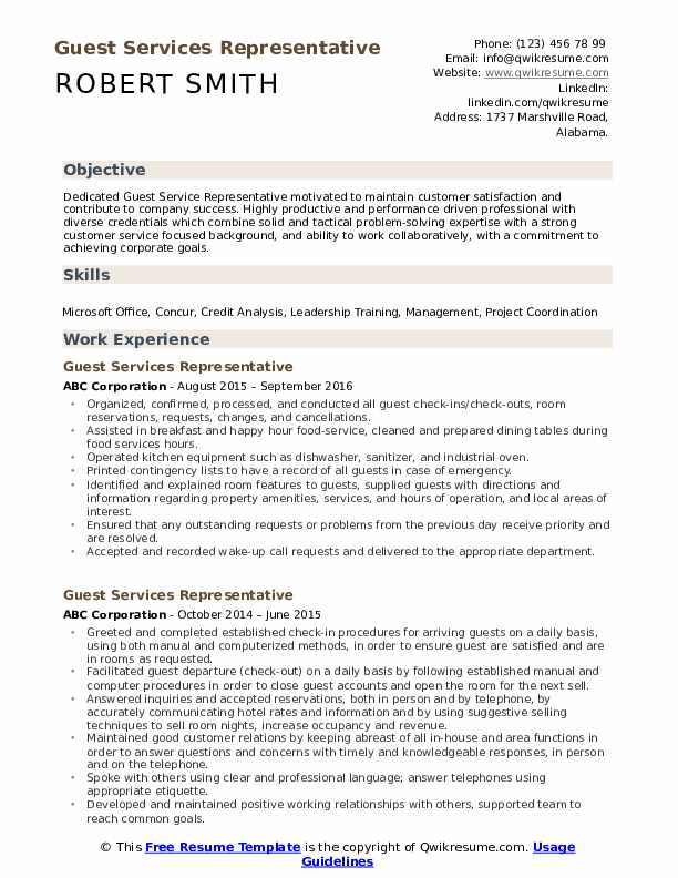 guest services representative resume samples qwikresume service pdf please see attached Resume Guest Service Representative Resume