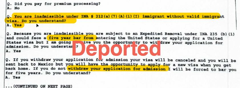 h1b visa worker deported at port of entry after cbp officer finds this on his iphone Resume Resume For H1b Visa Interview