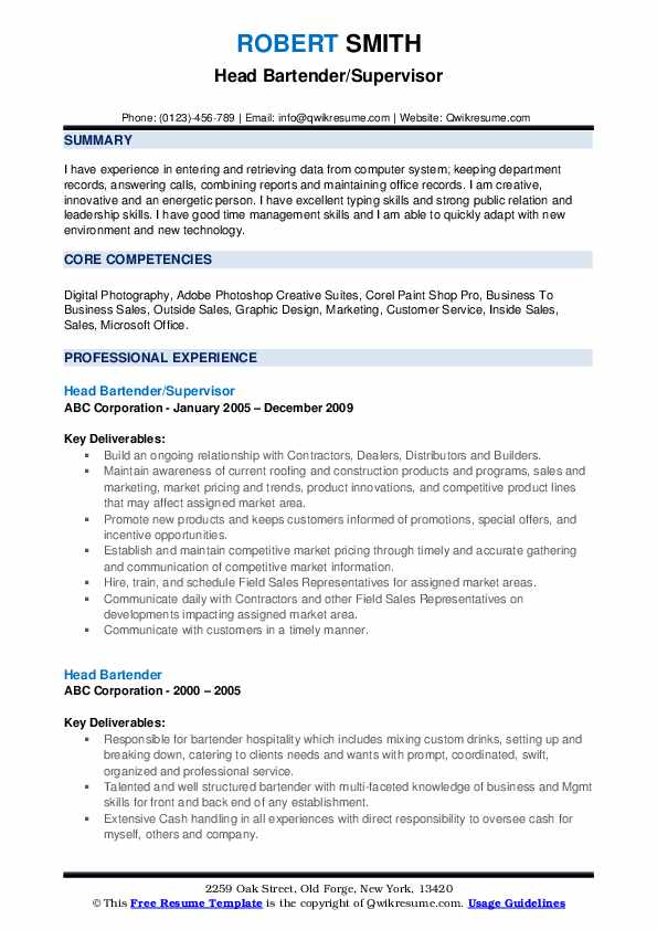 head bartender resume samples qwikresume responsibilities of for pdf specific police Resume Responsibilities Of Bartender For Resume