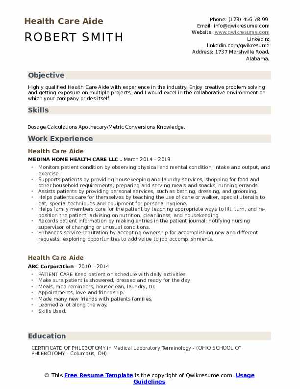 health care aide resume samples qwikresume home pdf the perfect for recent college Resume Home Health Aide Resume