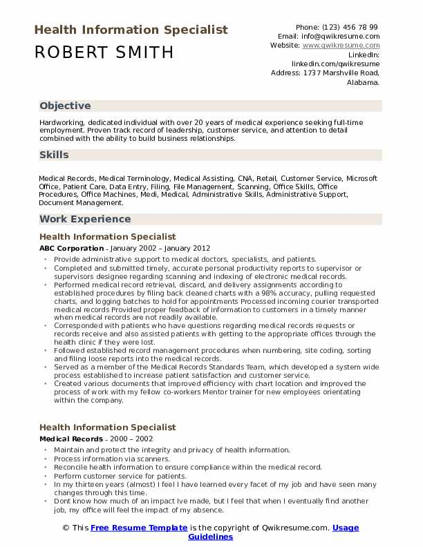 health information specialist resume samples qwikresume patient administration pdf Resume Patient Administration Specialist Resume