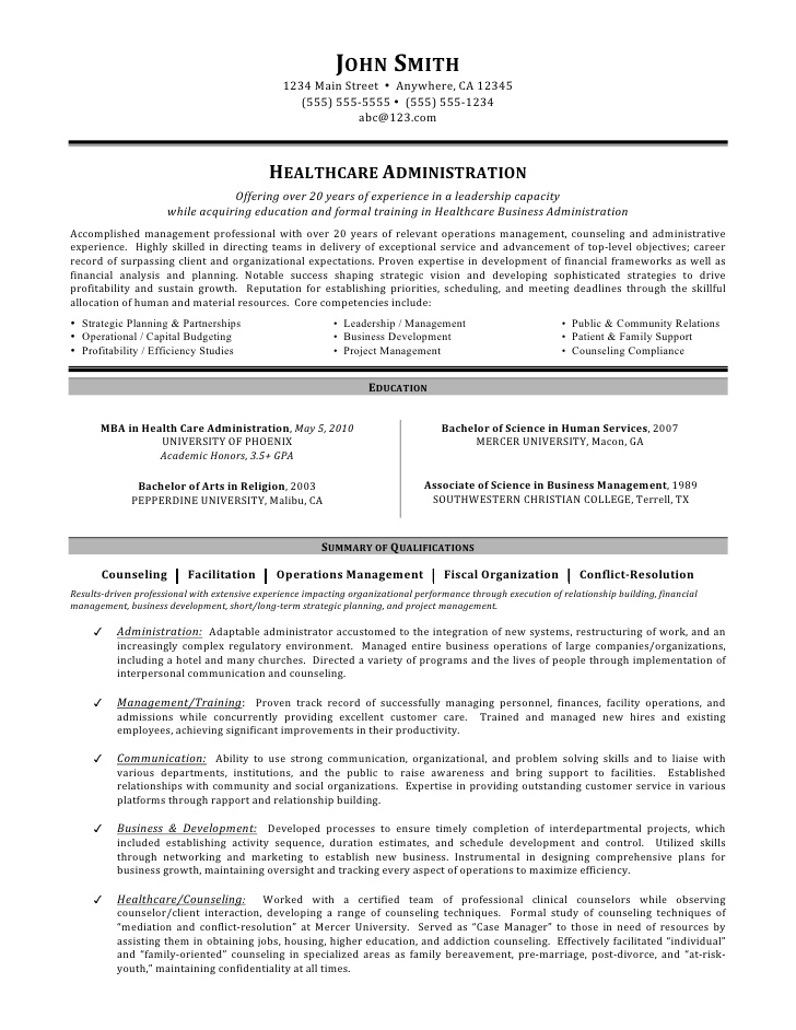 healthcare administration resume by mia summary examples salesforce admin for years Resume Resume Summary Examples Healthcare