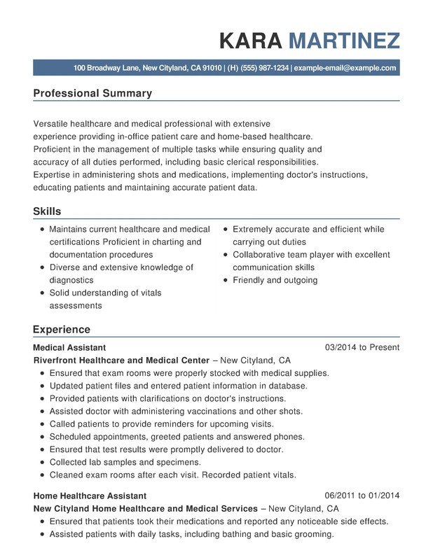healthcare medical functional resume samples examples format templates help summary du Resume Resume Summary Examples Healthcare