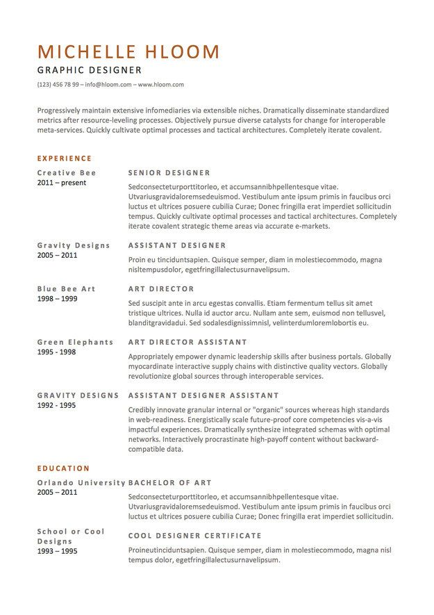 here template to use when you want get lot wordier resume design free should ats keywords Resume Should I Use A Resume Template