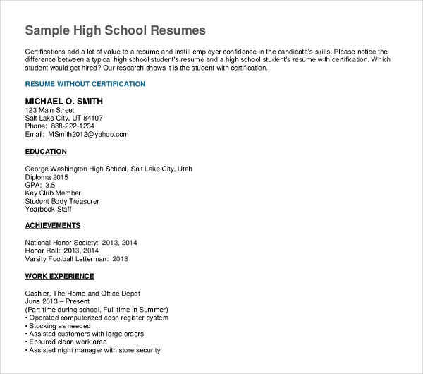 high school graduate resume templates pdf free premium for someone out of example dance Resume Resume For Someone Out Of High School