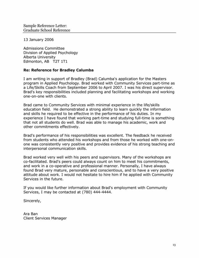 high school recommendation letter sample letters templates resume template graduate ran Resume Recommendation Letter Resume Template