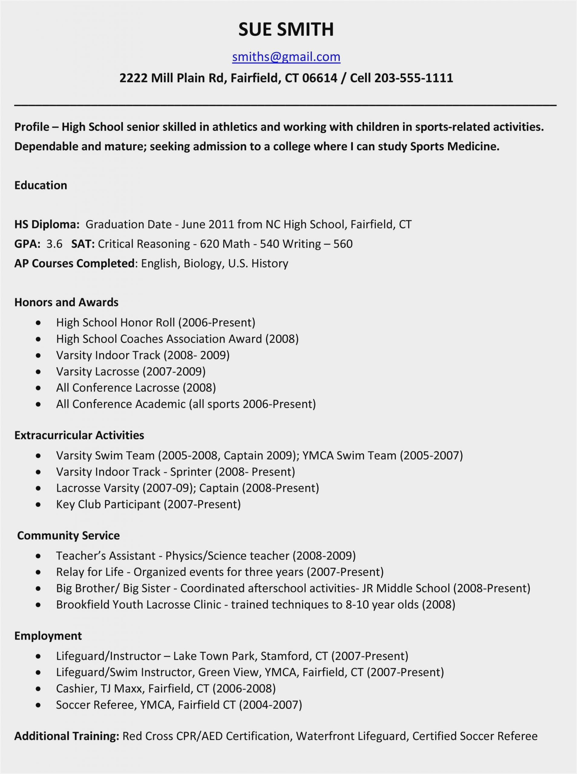 high school resume examples for college applications sample child admission scaled Resume Child Resume For School Admission