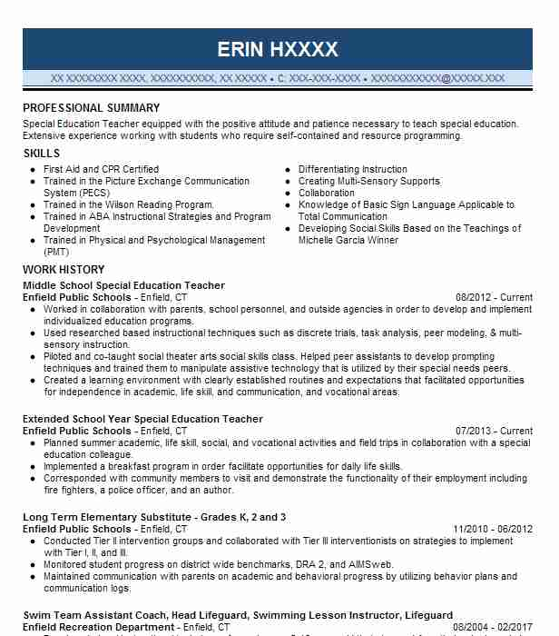high school special education teacher resume example wcusd5 arnold skills for information Resume Special Education Teacher Skills For Resume
