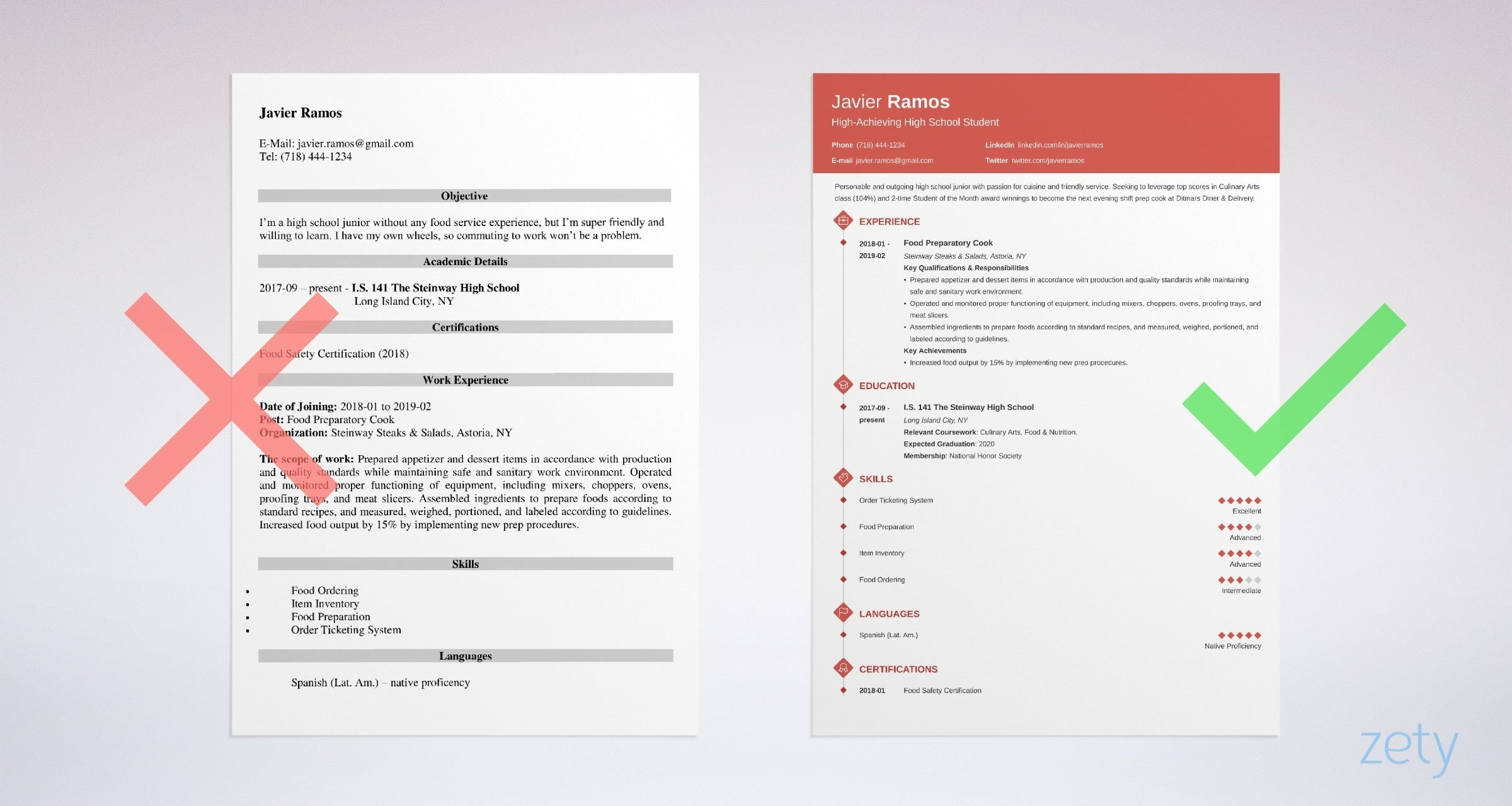 high school student resume template examples for first job example security guard sample Resume Resume Template For High School Student First Job