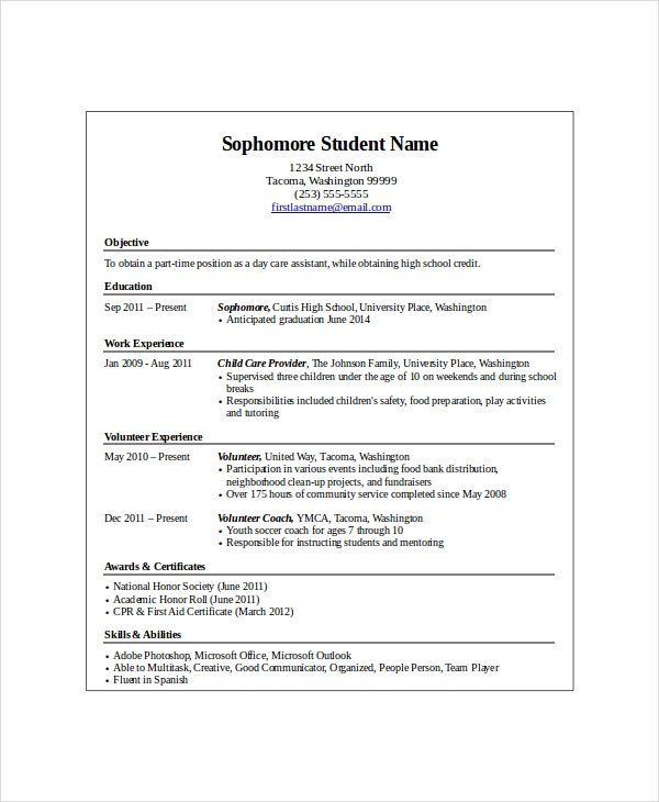 high school student resume templates pdf free premium objective for entry level Resume Objective For A High School Student Resume