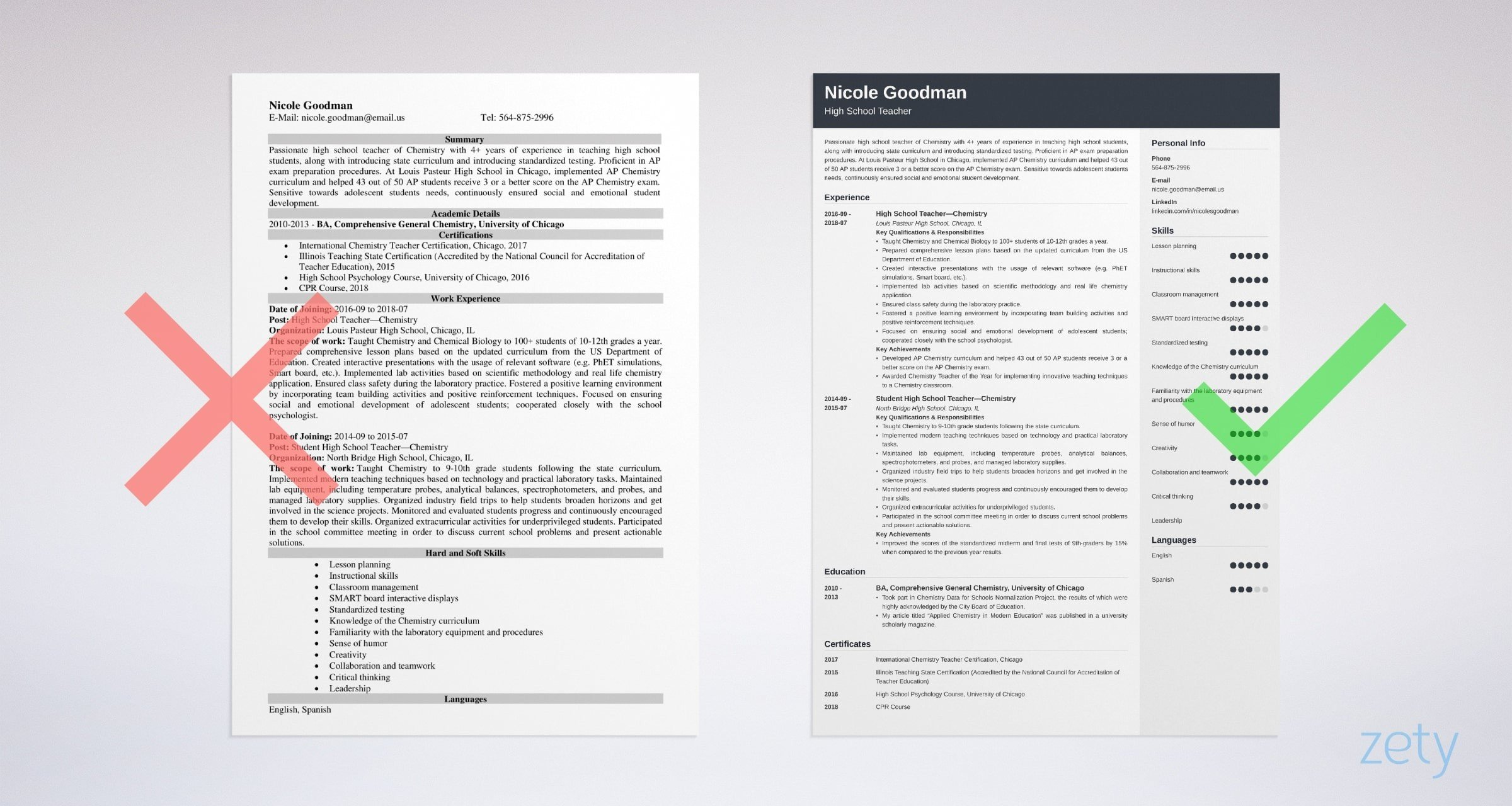 high school teacher resume examples template guide education format example tips for mass Resume Resume Education Format High School