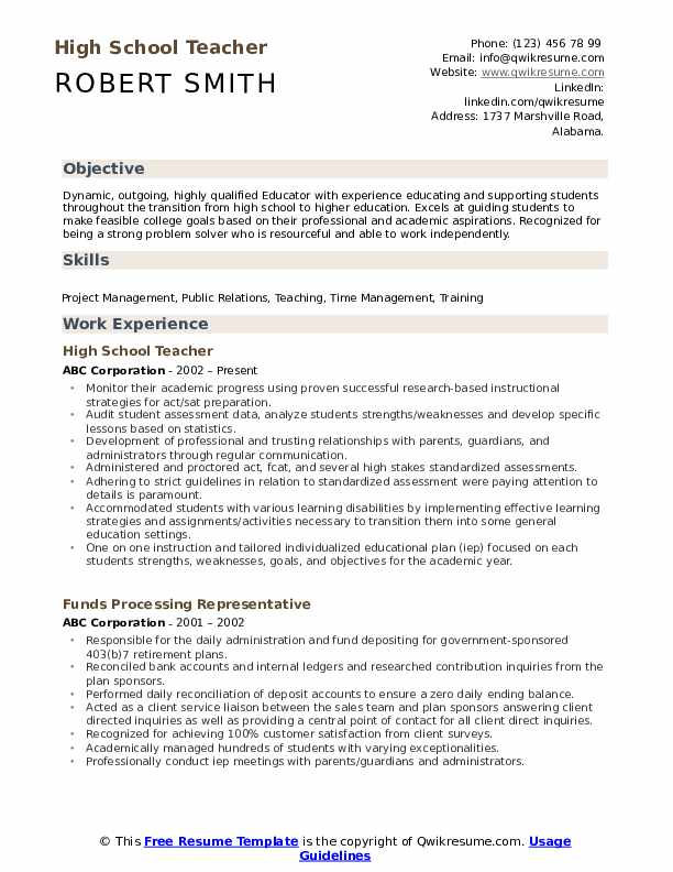 high school teacher resume samples qwikresume education format pdf food and beverage Resume Resume Education Format High School