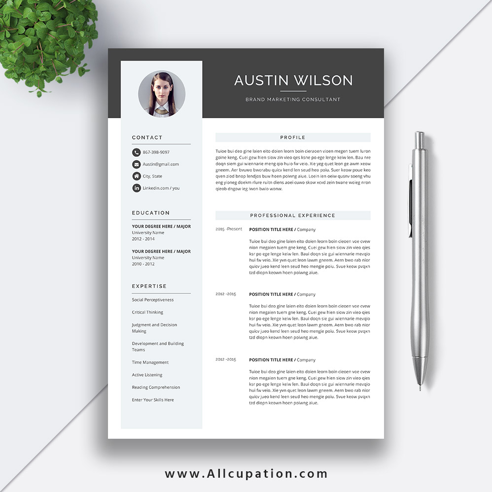highest rated resume template with cover letter and references for instant ms office word Resume Resume References Template Download