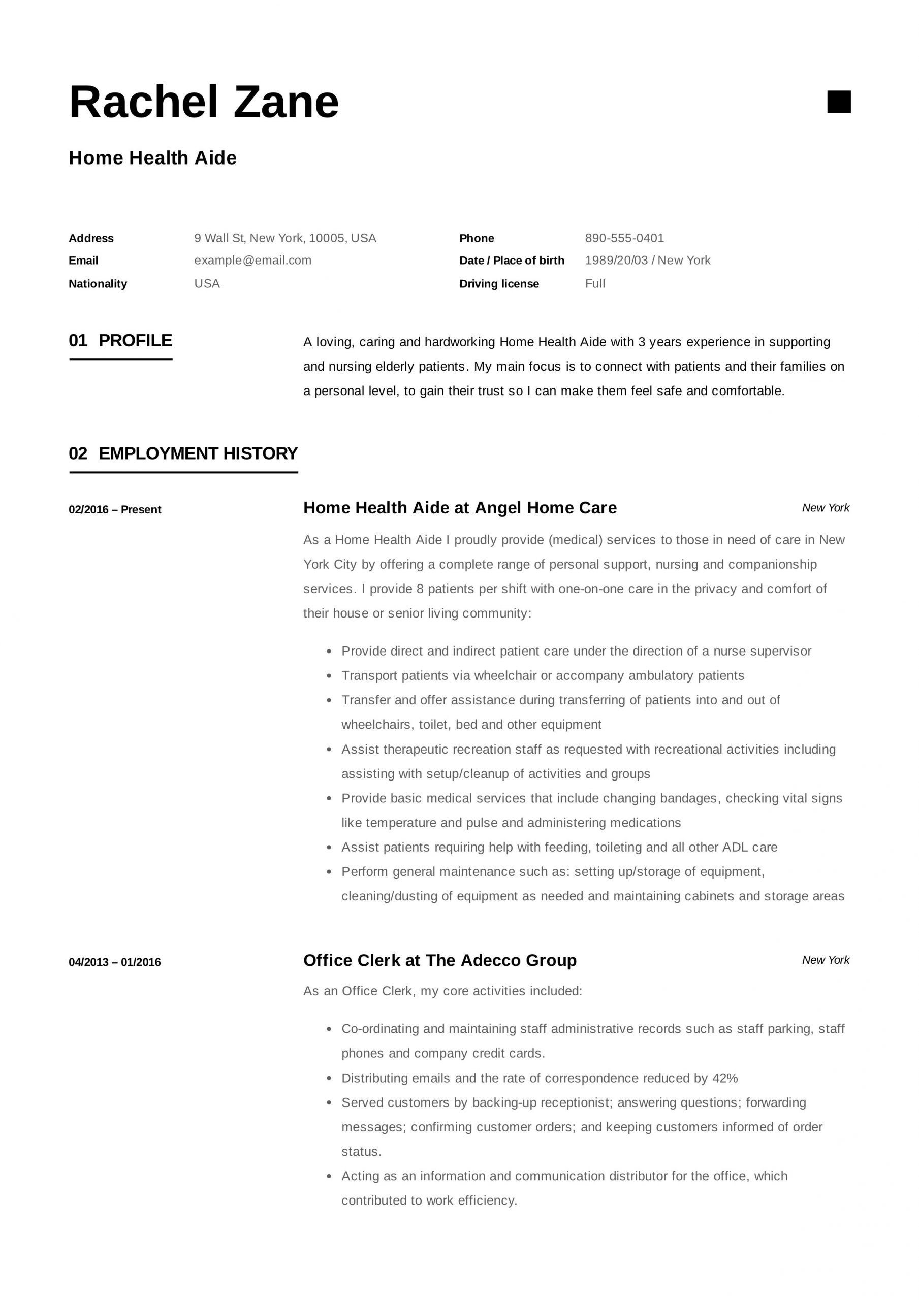 home health aide resume example free builder examples sample amp writing guide of scaled Resume Home Health Aide Resume Examples