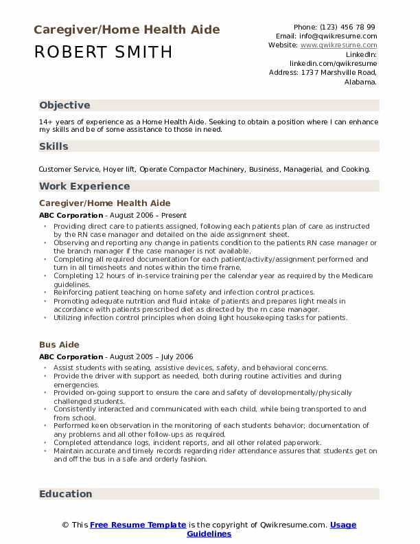 home health aide resume samples qwikresume pdf apa style cover letter for executive Resume Home Health Aide Resume