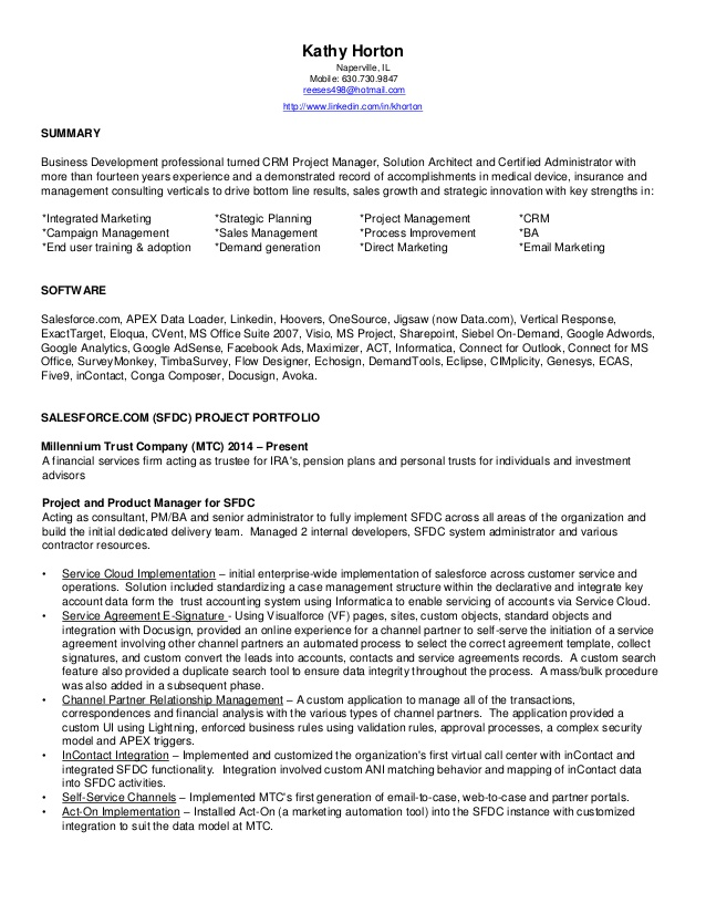 horton kathy sfdc consultant resume insurance oil and gas examples objective for youth Resume Insurance Consultant Resume