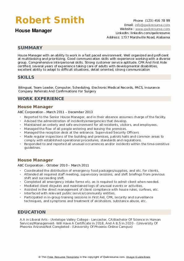 house manager resume samples qwikresume private estate pdf new impressive words for entry Resume Private Estate Manager Resume