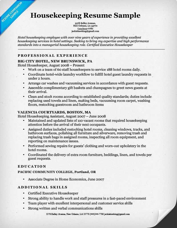 housekeeping resume sample best examples cleaning services high school for college Resume Cleaning Services Resume