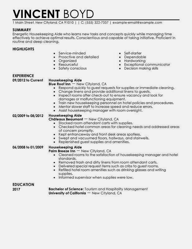 housekeeping resume sample monster examples good job template for position composer Resume Sample Resume For A Housekeeping Position