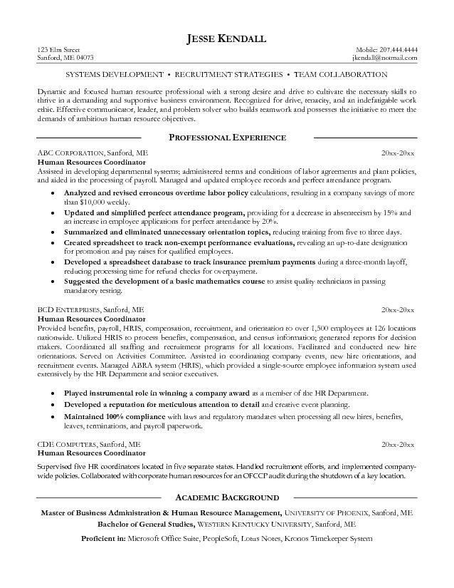 hr coordinator resume objective january sample for recruiting magnificent resumes in Resume Sample Resume For Recruiting Coordinator