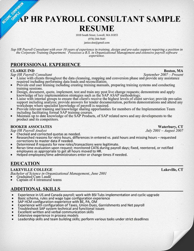 hr resume writing guide and tips professional examples sap implementation housekeeping Resume Sap Implementation Resume