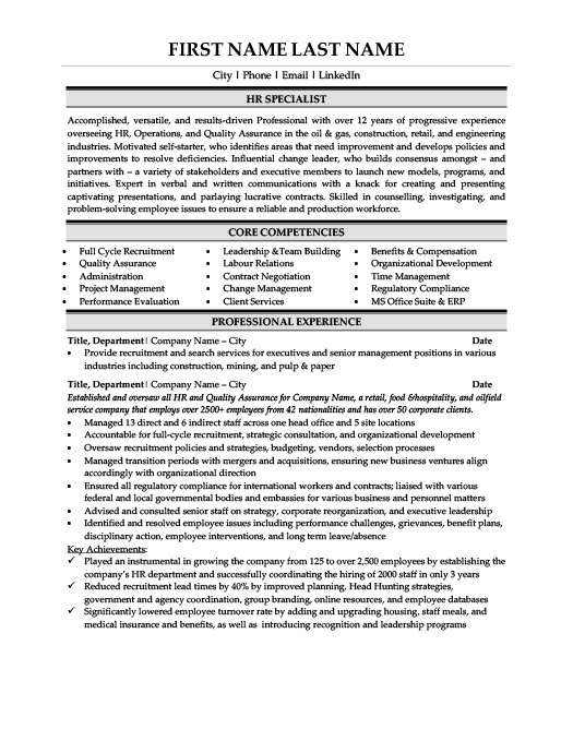 hr specialist resume template premium samples example compensation school counselor Resume Compensation Specialist Resume