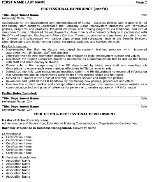 human resource director resume sample template resources generalist p2 objective for Resume Human Resources Director Resume Sample