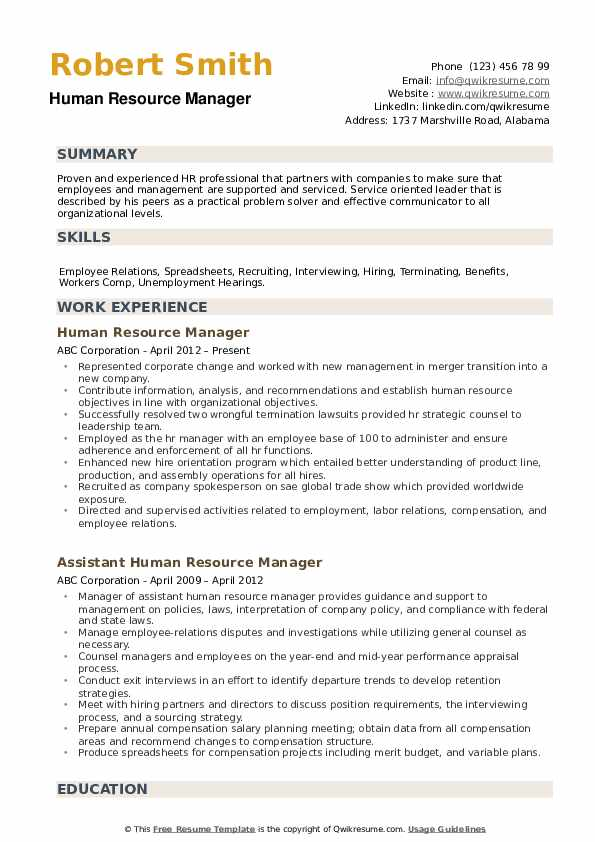 human resource manager resume samples qwikresume resources director sample pdf entry Resume Human Resources Director Resume Sample
