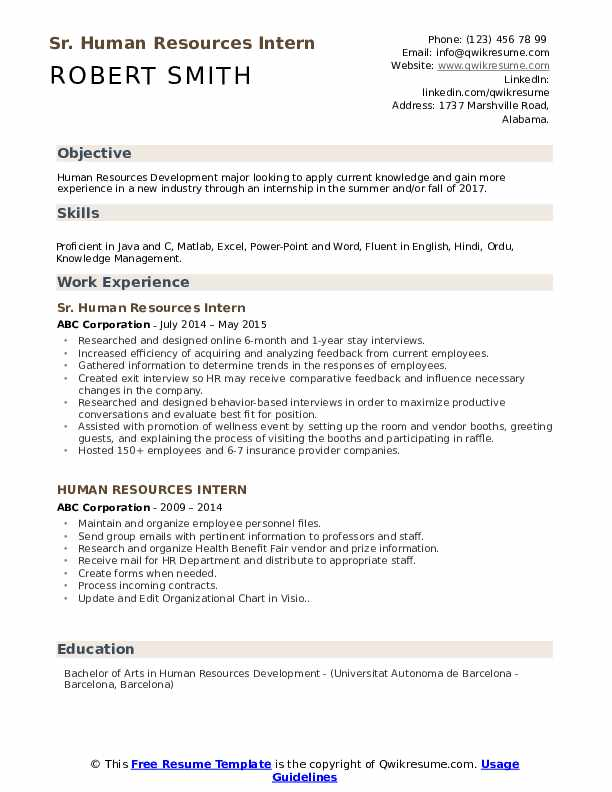 human resources intern resume samples qwikresume example pdf of summary on for Resume Human Resources Intern Resume Example