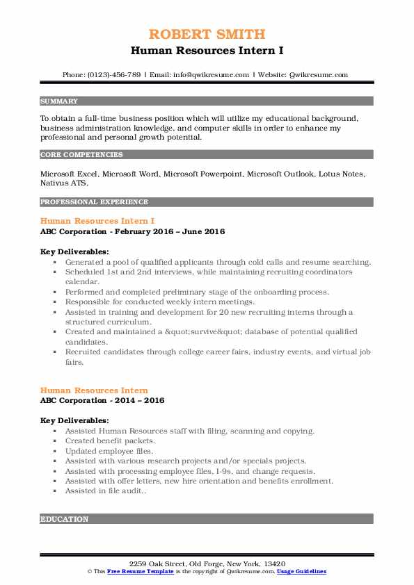human resources intern resume samples qwikresume example pdf oil field sample for Resume Human Resources Intern Resume Example