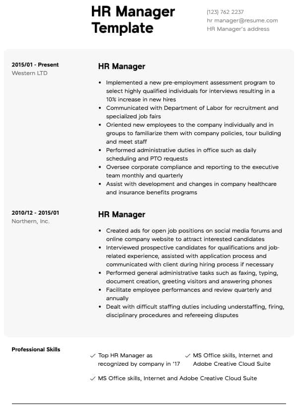 human resources resumes resume samples all experience levels director sample general hr Resume Human Resources Director Resume Sample