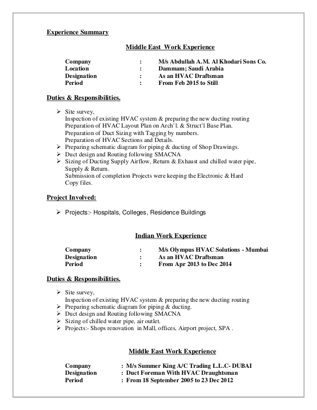 hvac draftsman cv draughtsman resume technical personal chef objective example summary Resume Hvac Draughtsman Resume