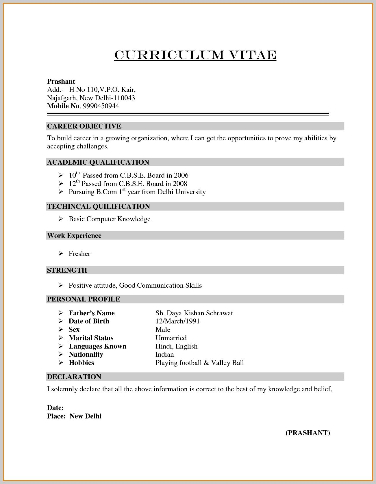 image result for resume format bcom freshers sample of fresher great phrases software Resume Resume Of A Bcom Fresher