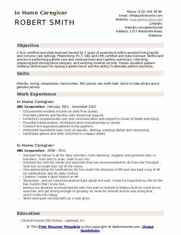 in home caregiver resume samples qwikresume patient companion pdf immigration paralegal Resume Patient Companion Resume