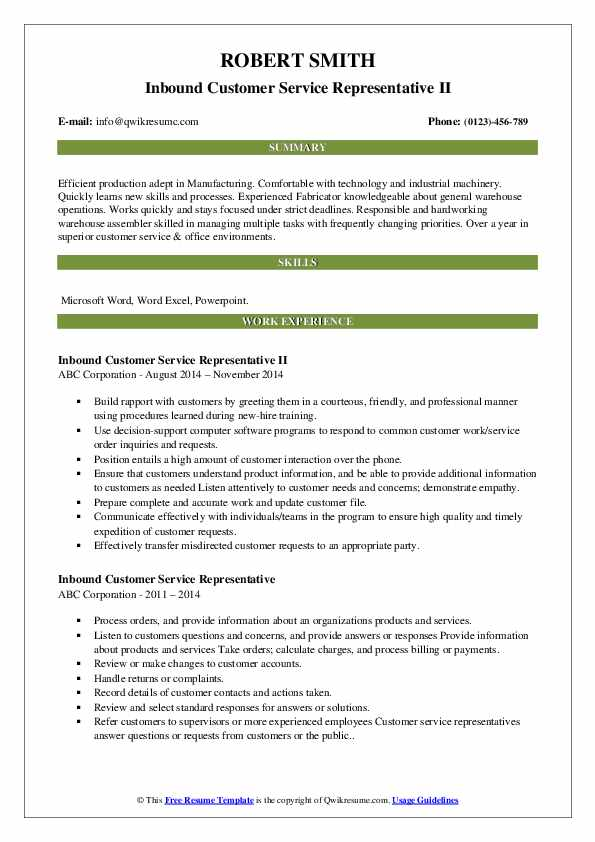 inbound customer service representative resume samples qwikresume pdf curator example Resume Inbound Customer Service Representative Resume