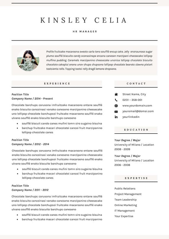 incredible cv templates for every job type career girl daily noticeable resume il 570xn Resume Noticeable Resume Templates