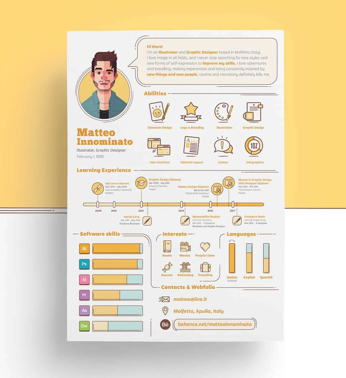 infographic resume templates examples builder manager wordpad format for resident Resume Infographic Resume Download