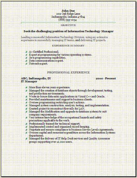 information technology resume occupational examples samples free edit with word cover Resume Information Technology Resume Cover Letter
