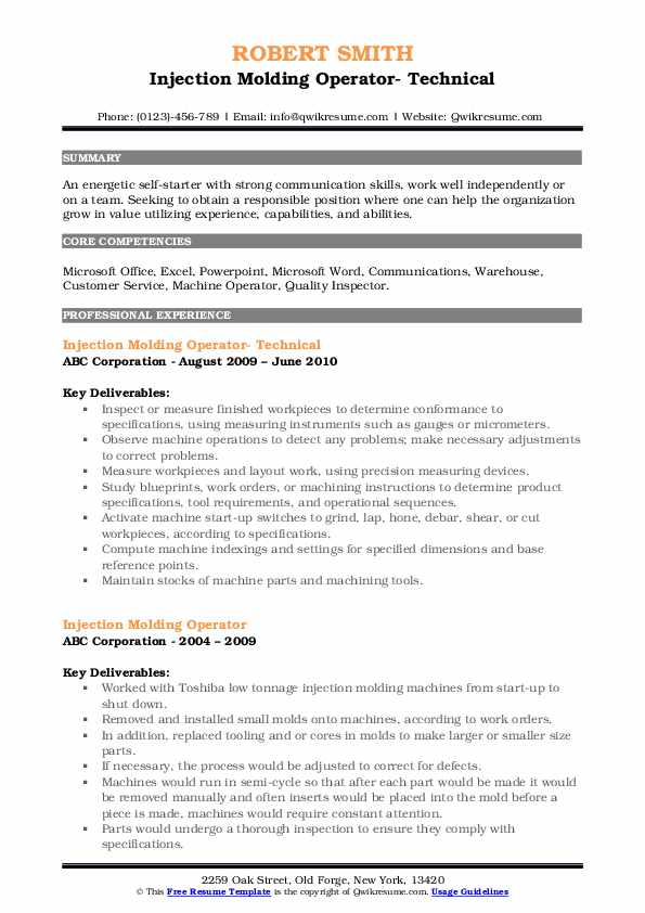 injection molding operator resume samples qwikresume engineer pdf strong examples sample Resume Injection Molding Engineer Resume