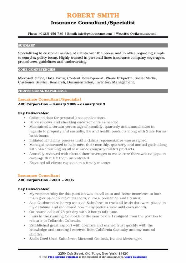 insurance consultant resume samples qwikresume pdf resident assistant example oil and gas Resume Insurance Consultant Resume