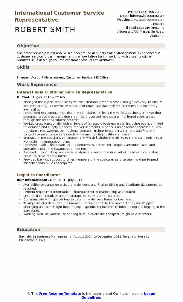international customer service representative resume samples qwikresume objective pdf Resume Customer Service Representative Resume Objective